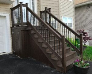 brown fences for exterior stairs