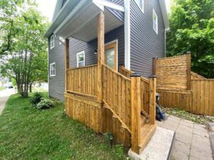 exterior of house example of a natural deck stain