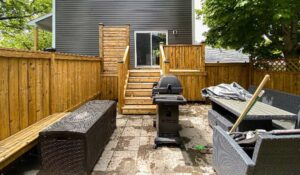 patio example with a natural colour deck stain