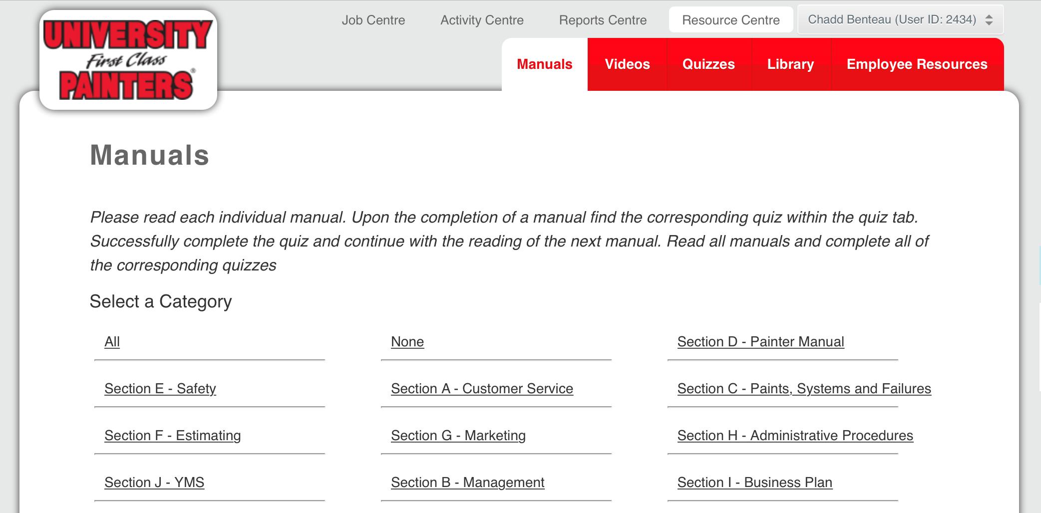 management training portal